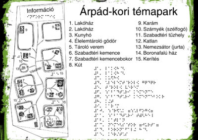 Árpád-kori témapark térkép tábla